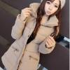 CW5710002 เสื้อโค้ทแฟชั่นสาวเกาหลี มีฮูด แขนยาว