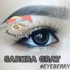 สั้น/power -275 SAKURA GRAY EYEBERRYLENS