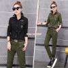 HW6107010 กางเกงขายาวทหารหญิงสีเขียวกองทัพทหาร แฟชั่นเกาหลี (พรีออเดอร์) รอ 3 อาทิตย์หลังโอนเงิน