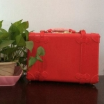 กระเป๋าเดินทางวินเทจ รุ่น spring colorful แดงคาดแดงล้วน ขนาด 12 นิ้ว