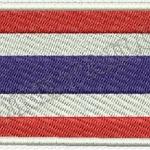 อาร์มปักธงชาติไทย ขนาด 3.5 x 5.5 cm. แพค 12 ชิ้น