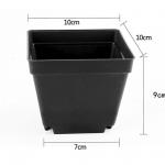 กระถางพลาสติกสี่เหลี่ยม 10x10 cm 5 ชิ้น - Square Pot