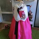 "Hanbok ผ้าไหมงานปัก อก 36"" สูง 163"