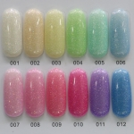 สีทาเล็บเจล EN.OU ยกเซ็ต 12ขวด ชิมเมอร์คละสี EXQUISITE CLEAR COLOR
