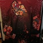 Furisode Kimono Red queenกิโมโนฟูริโซเดะสีแดง