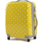 กระเป๋าเดินทางไฟเบอร์ รุ่น ลายจุด เหลืองลายจุดขาว ขนาด 26 นิ้ว