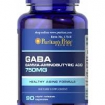 Puritan's Pride GABA (Gamma Aminobutyric Acid) 750 mg / 90 Capsules