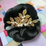 Hanbok hair pin ที่ปักผมฮันบก รุ่นใบมะกอก