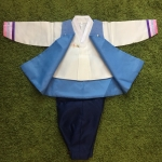 Premium Hanbok Boy ฮันบกผ้าไหมสีฟ้า เด็กชาย 7 ขวบ