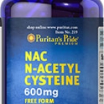 Puritan's Pride N-Acetyl Cysteine (NAC) 600 mg / 120 Capsules