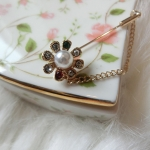 Hanbok gold pin เข็มกลัดทอง สำหรับติดโบว์ประดับฮันบก รุ่นดอกไม้