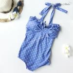 (Size S,M) ชุดว่ายน้ำ วันพีช ชุดลายจุดดาวสีฟ้า