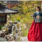 Royal Queen Hanbok แบบชาววัง (ทังอี) สวยงามอลังการ เสื้อเทคนิคปั๊มทอง กระโปรงปักมือดิ้นทอง