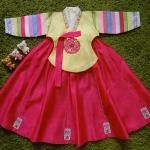 Hanbok Girl ฮันบกผ้าไหมชาววัง สำหรับเด็ก 4 ขวบ