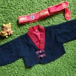 Hanbok Boy ฮันบกเด็กชาย 3-4 ขวบ ครบเซตพร้อมหมวก แถมกระเป๋า