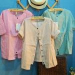 bugucun เสื้อผ้าฝ้ายสไตล์ญี่ปุ่น สกรีน divided