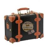 กระเป๋าเดินทางวินเทจ รุ่น retro brown ดำคาดน้ำตาล ขนาด 12 นิ้ว