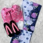 Summer kimono กิโมโนฤดูร้อน (Yukata) Spring Summer สีน้ำเงิน พิมพ์ทองสวยงามน่ารัก