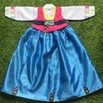 Hanbok Girl ผ้าไหมสีสดใส สำหรับเด็ก 6 ขวบ