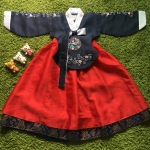 Hanbok Girl ฮันบกชาววังสี Navy สำหรับเด็ก 5 ขวบ