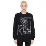 Givenchy Bambi Stencil Print Black Sweatshirt