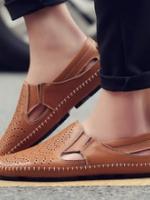 XM5905007 รองเท้าระบายอากาศผู้ชาย Peas ปรุหนัง cowhide รองเท้าลำลอง(พรีออเดอร์) รอ 3 อาทิตย์หลังโอนเงิน