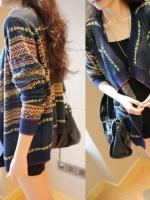 KW5707002 เสื้อกันหนาว ไหมพรมลายวินเทจ Yifen แฟชั่นเกาหลี (พร้อมส่ง)