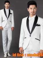 JM6102004 ชุดเสื้อสูทงานเลี้ยงผู้ชายสูทเจ้าบ่าวงานแต่งงาน (pre)