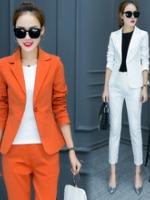 UP5910008 เสื้อชุดกางเกงสูทผู้หญิงแขนยาวสาวทำงานแฟชั่นเกาหลี