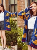QW5709014 เสื้อคลุมกันหนาวเกาหลี ไหมพรมคาดิแกน วินเทจ (พรีออเดอร์) รอ 3 อาทิตย์หลังโอนเงิน