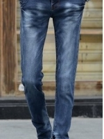 YA6008002 กางเกงยีนส์ชายขากระบอกเล็กสียีนส์ฟ้า (พรีออเดอร์) รอ 3 อาทิตย์หลังโอนเงิน