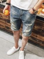 AM5909019 กางเกงยีนส์ชายขาสั้น แฟชั่นเกาหลี (พรีออเดอร์) รอ 3 อาทิตย์หลังชำระเงิน