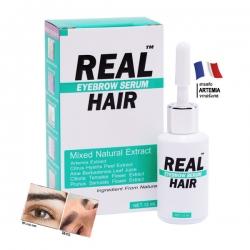 เซรั่มเข้มข้น Real Hair เรียล แฮร์ ขายดีอันดับหนึ่ง!! ช่วยแก้ปัญหา คิ้วบาง ขนตาบาง หลุดร่วงง่าย ปลูกหนวด,จอน,ไรผม กล่อง 12 มล. ขนาดกลาง สำเนา