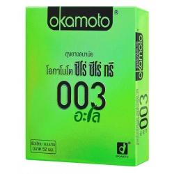 Okamoto Aloe ถุงยางอนามัย Zero Zero Three Aloeความหนา 0.03 มม. - ให้ความบางพิเศษ เป็นแบรนด์ที่มียอดขายอันดับ 1 ในญี่ปุ่นเลยทีเดียว ให้คุณมั่นใจในคุณภาพได้เลย