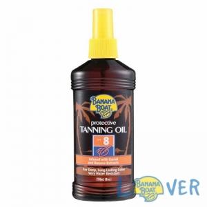 แทนนิ่งออยเปลี่ยนสีผิวแทนทองพร้อมปกป้องจากแสงแดด Banana Boat Protective Tanning Oil SPF8 236 ml