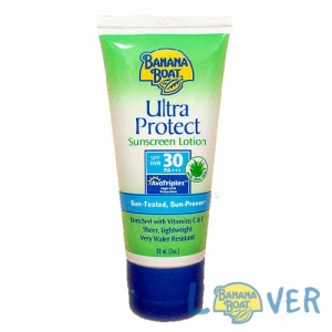 โลชั่นกันแดดผสมอโรเวร่าและวิตามินอี Banana Boat Ultra Protect Sunscreen Lotion SPF30 PA+++ 90 ml