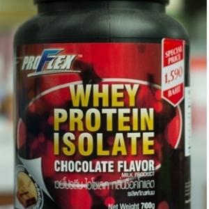 proflex isolate เวย์โปรตีน กลิ่นช็อกโกแลต ขนาด 700 กรัม