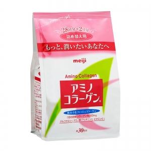 Meiji Amino Collagen (รีฟิลชนิดเติม) คอลลาเจนชนิดผงจากญี่ปุ่น ที่ขายดีอันดับ 1 ในประเทศญี่ปุ่น เข้มข้นด้วยคอลลาเจนสูงถึง 5000 mg บำรุงผิวกระชับเต่งตึง
