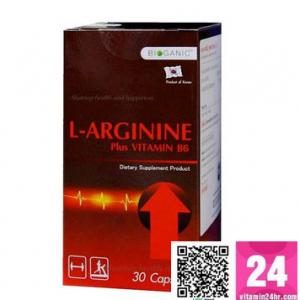 Bioganic L-Arginine Plus Vitamin B6 (30แคปซูล) เสริมสมรรถภาพทางเพศ และสมรรถนะผู้ชาย