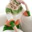 QW5804004 เสื้อกันหนาวเกาหลี ไหมถักลายวินเทจ สีสดใจ คอสูง แขนยาว (พรีออเดอร์) รอ 3 อาทิตย์หลังโอนเงิน thumbnail 1