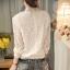 RP5911049 เสื้อลูกไม้เกาหลีสวยหวาน คอสูงแขนยาวฤดูใบไม้ร่วงและฤดูหนาว(พรีออเดอร์) thumbnail 5