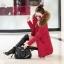 CW5909023 เสื้อโค้ทผู้หญิงหวานเกาหลีตัวยาวแต่งเฟอร์ขน(พรีออเดอร์) รอ 3 อาทิตย์หลังโอนเงิน thumbnail 2