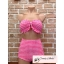 (Size S,M) ชุดว่ายน้ำทูพีช สม็อคทั้งตัว สีชมพู ลายจุด กางเกงเอวสูง สม็อคทั้งตัว thumbnail 2