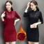 RP5911018 เดรสลูกไม้คอจีนแขนยาวเก๋เกาหลีเข้ารูปสวยหวานกระโปรง(พรีออเดอร์) thumbnail 1