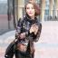 CW5909022 เสื้อโค้ทผู้หญิงเกาหลีตัวสั้นพิมพ์ลายเสื้อแจ๊กเก็ต(พรีออเดอร์) รอ 3 อาทิตย์หลังโอนเงิน สำเนา thumbnail 2