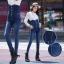 JW6012002 กางเกงยีนส์ กางเกงยีนส์เอวสูง กางเกงยีนส์ขาเดฟกางเกงยีนส์เกาหลี thumbnail 1