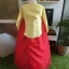Princess Hanbok แบบชาววัง (ทังอี) สีเหลืองทอง ตัดแดง สวยอลังการ thumbnail 8