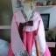 "Hanbok เกรด A+++ ผ้าไหมเกาหลี สีชมพูพิมพ์เงิน เรียบหรู อก39"" thumbnail 3"