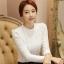 RP5911056 เสื้อลูกไม้เกาหลีสวยหวาน คอสูงแขนยาวฤดูหนาว(พรีออเดอร์) thumbnail 3