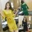 RP5911039 ชุดเดรสลูกไม้คอวีแขนยาวเข้ารูปเกาหลีแซ็กซี่(พรีออเดอร์) thumbnail 2